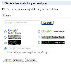 searchbox choices
