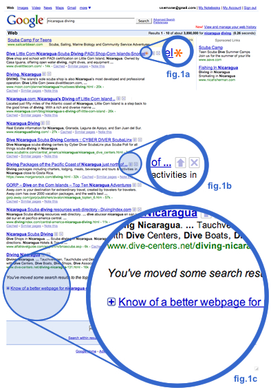 Sample View of Google Search 2.0