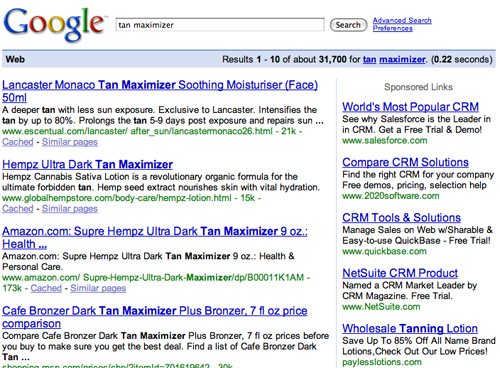 "Search Results for ""tan maximizer"""