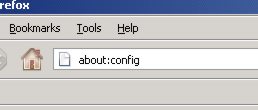 About:config - Firefox browser