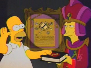 Homer Takes the StoneCutters' Oath