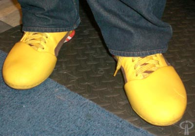 Rand's yellow shoes