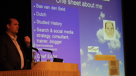 Bas Van Den Beld presents Search in Holland at the ISS London2009