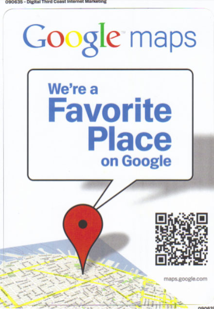 Favorite Places Sticker with QR Code