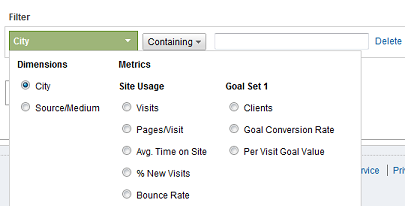 Google Analytics Advanced Filters 2 Categories