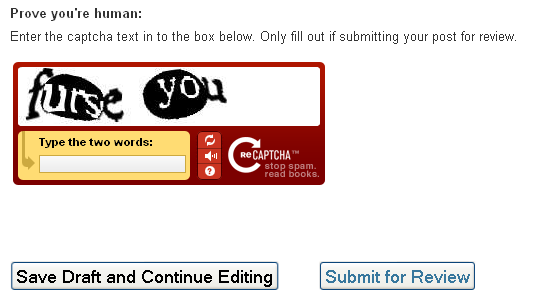 furse you CAPTCHA