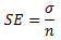 Standard error equation