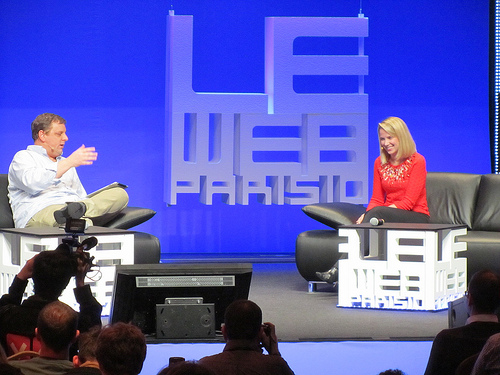 Michael Arrington and Marissa Mayer at LeWeb