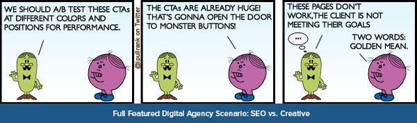 Big Agency Scenario: SEO vs Creative