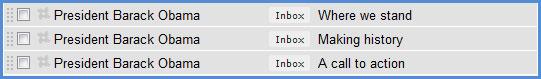Obama inbox
