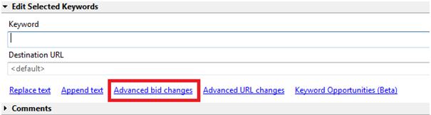 Advanced Bid Changes