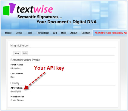 Find your Textwise API here!