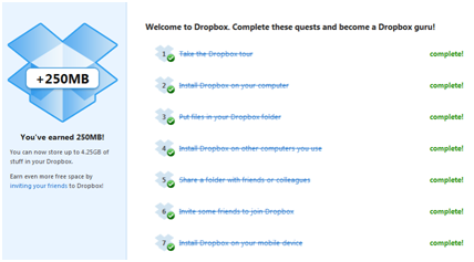 Dropbox's checklist
