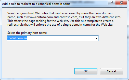 canonical domain name rule