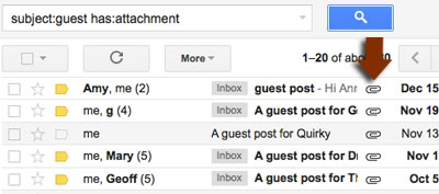 Find the Actual Guest Posts You Sent