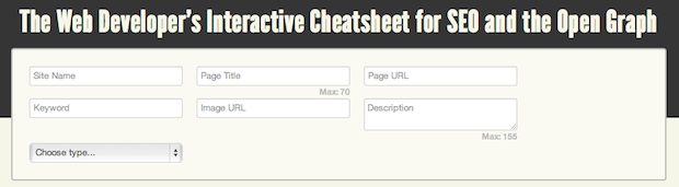 Web Developer's Cheatsheet for SEO and the Open Graph