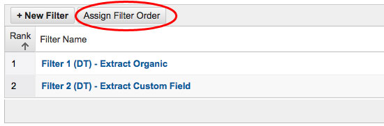 Assign Filter Order In Google Analytics