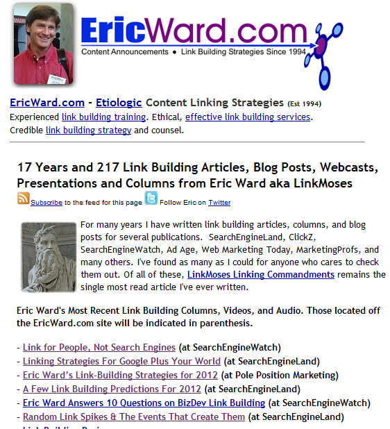 Eric Ward's Best Practices
