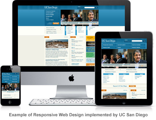 Exampe of Responsive Web Design (RWD): UC San Diego
