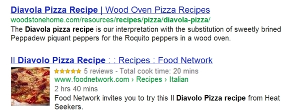 reviews stars in serps