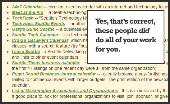 Seattle Event Calendar Listings