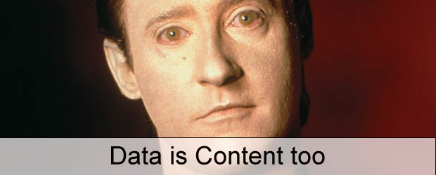 Data is Content... too