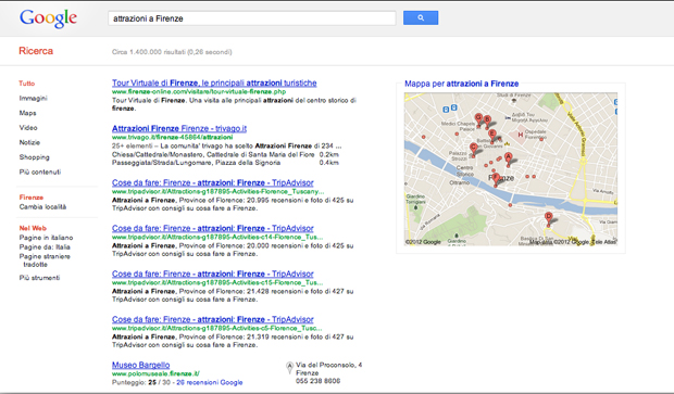 Attractions in Florence in Italian