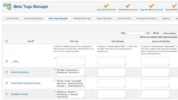 SEO Boss Meta Tag Manager