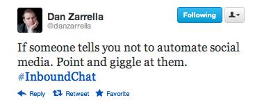 Dan Zarrella Automating Twitter Tweet