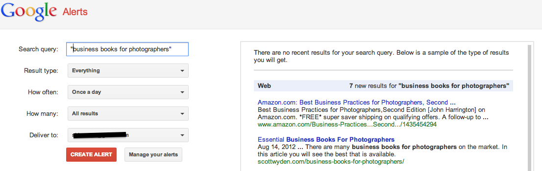 relationship building with Google alerts