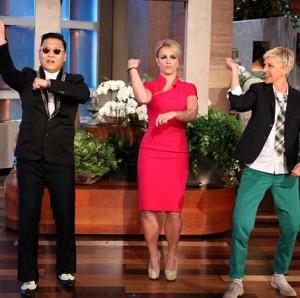 Psy teaches Ellen & Britney Gangham