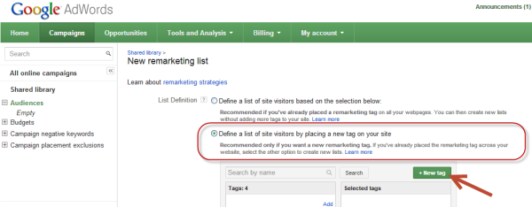 Retargeting walkthrough 03