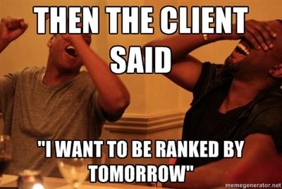 I want to be ranked tomorrow
