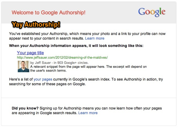 Google+ Authorship Email
