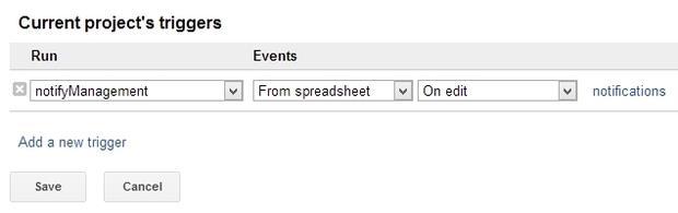 Google Doc Script Triggers