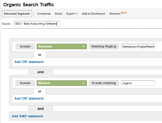 Advanced Segments Google Analytics
