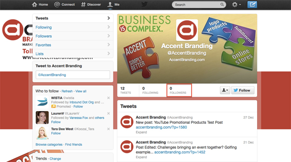 Accent Branding on Twitter