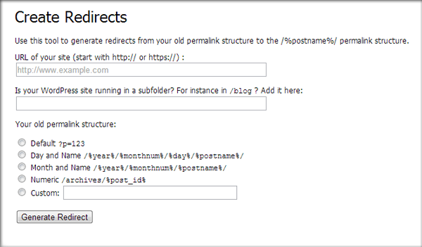 Yoast SEO Redirect Tool