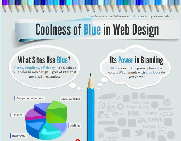 Coolness of Blue in Web Design