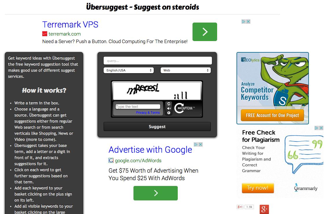 Tool — google suggest scraper — übersuggest 2014 08 11 13 53 48