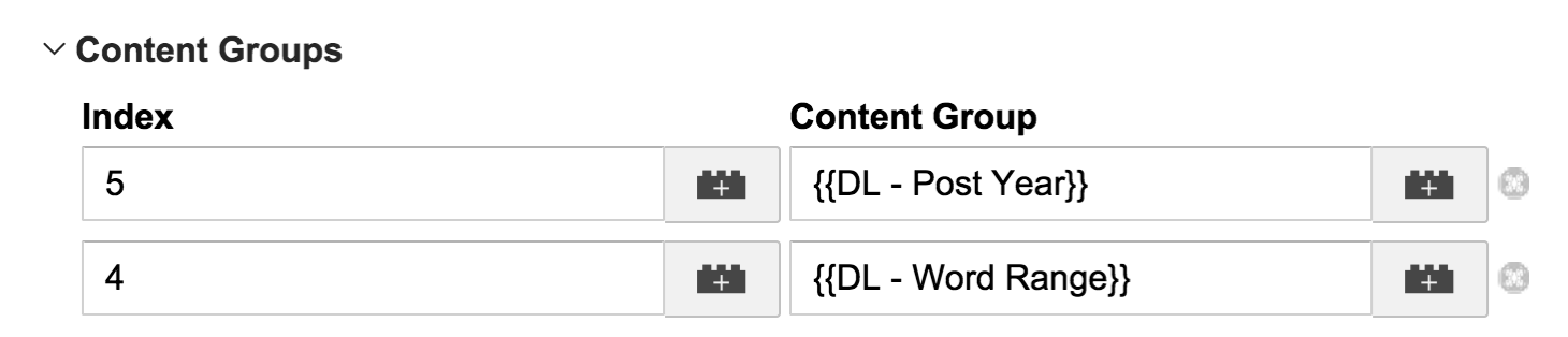 Setting Content Groupings in Universal Analytics
