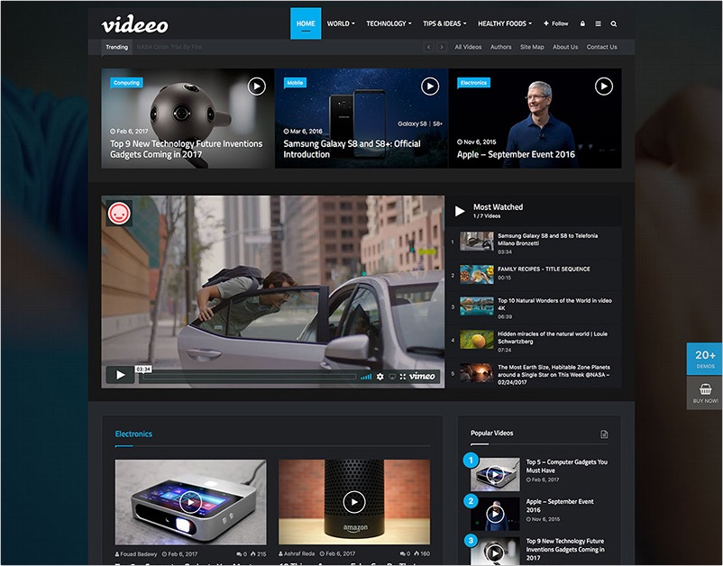 Video sharing WordPress