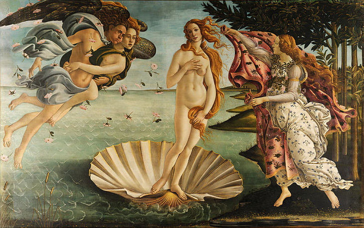Botticelli's Birth of Venus courtesy of Wikipedia