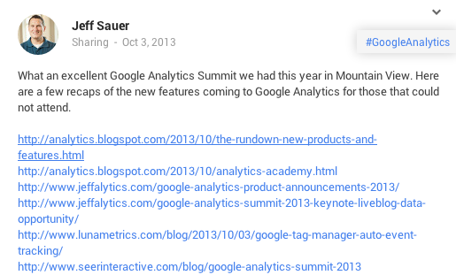 Google Analytics Share