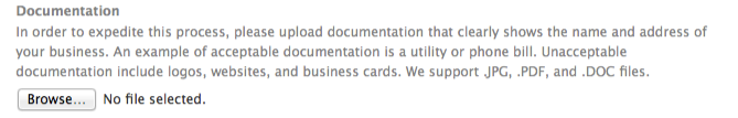 Facebook requires documentation