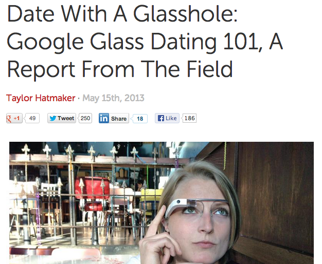Date with a Glasshole
