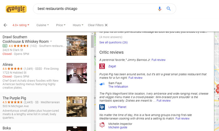 Restaurant Local SEO: The Google Characteristics of America's Top-Ranked Eateries 6
