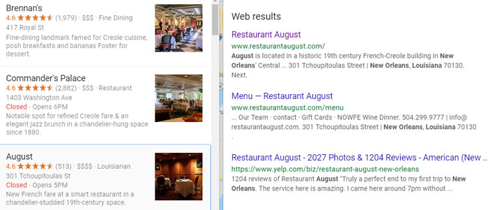 Restaurant Local SEO: The Google Characteristics of America's Top-Ranked Eateries 12