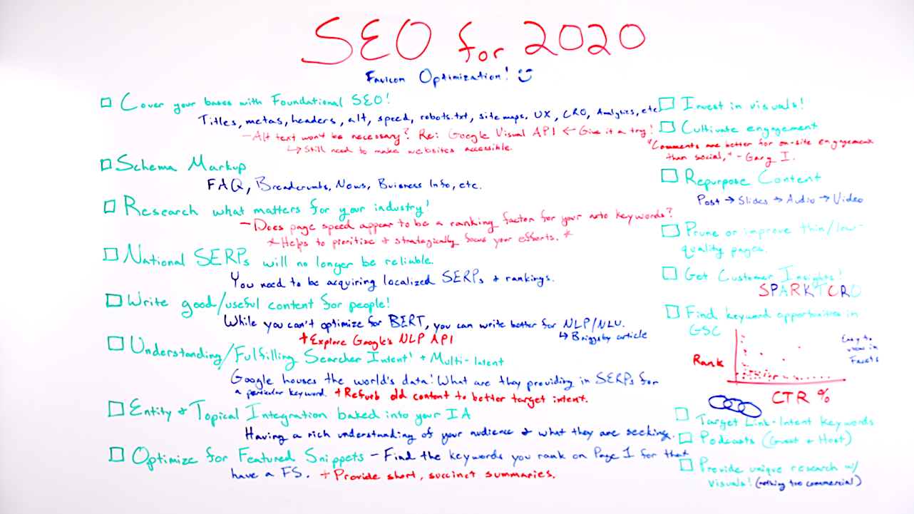 SEO for 2020 - Whiteboard Friday 1
