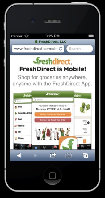 FreshDirect iPhone screenshot